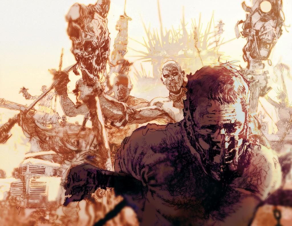 Mad Max: Fury Road, por Bill Sienkiewicz (The New Mutants, Elektra: Assassin)