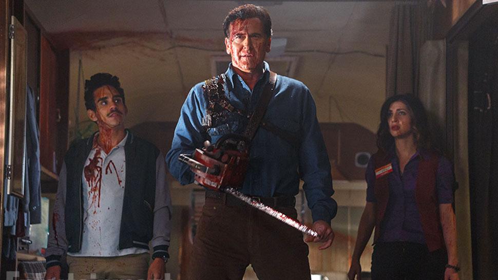 O actor Bruce Campbell no papel de Ash